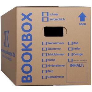 100 Bücherkartons 2-wellig Bookbox Ordnerkartons Archivkartons - KK VERPACKUNGEN