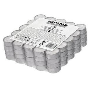 100 PAPSTAR Teelichter weiß
