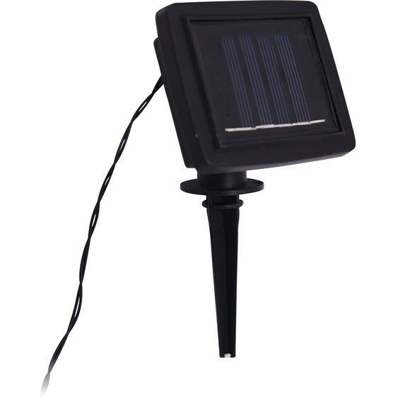 10er-LED-Solar-Lichterkette Glühbirne 7,60 m Schwarz