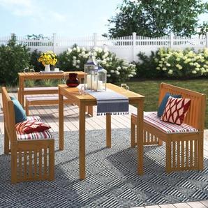 12-Sitzer Gartengarnitur-Set Jake mit Polster