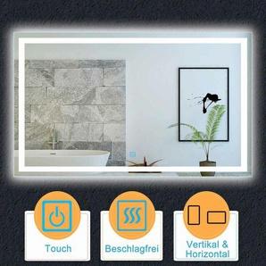 140x80cm,Kaltweiß Touch-Schalter für LED und Beschlagfrei - AICA SANITAIRE