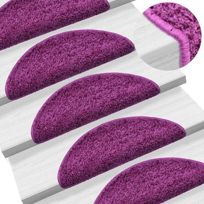 15 Stk. Treppenmatten Violett 56 x 20 cm