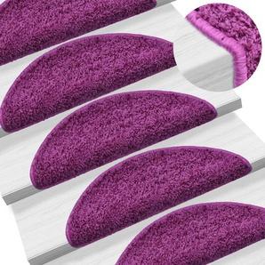 15 Stk. Treppenmatten Violett 65 x 25 cm