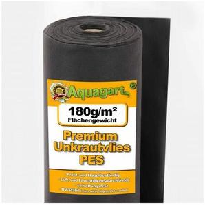 150m² Unkrautvlies Gartenvlies Mulchvlies Vlies 180g 2m breit Premium Qualität - AQUAGART