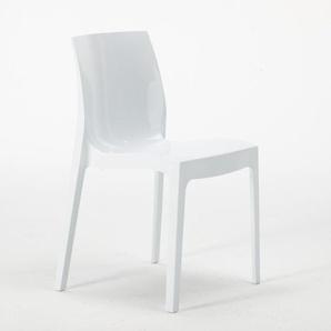 18 Stühle Küchenstuhl Esstischstuhl Esszimmerstuhl ICE Grand Soleil   Weiß