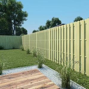 180 cm x 180 cm Gartenzaun Hit and Miss aus Holz