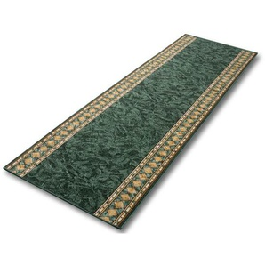 Teppich-Läufer auf Maß gekettelt   Rügen grün   Breite: 67 cm, Länge: 1400 cm