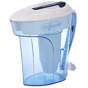 ZeroWater 12 Cup Ready-Pour - Wasserfilterkanne / Tischwasserfilter mit gratis TDS Messgerät - Wasserfilter-Krug mit Filter / Filterkanne | Blau | Kunststoff | BPA-frei | 2,8 Liter - ZD-012RP