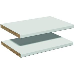 2 Einlegeböden, für alle Vorwandelemente mit Fachseiten geeignet, Lichtgrau