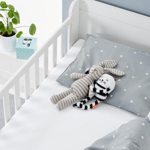 2 Kleinkinder-Spannbettlaken  - Weiß - 100% Baumwolle -