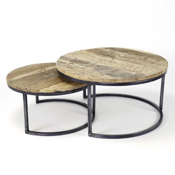 2 Satztisch, Dunkelbraun, Holz