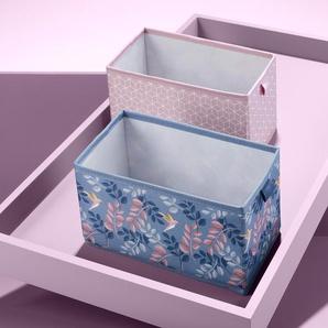 2 Schubladen-Ordnungsboxen - blau -