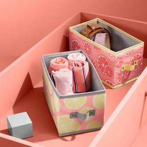 2 Schubladen-Ordnungsboxen - weiß -