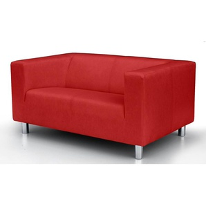 2-Sitzer, rot, 135cm, COLLECTION AB