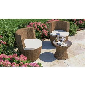 2-Sitzer Lounge-Set Grinstead aus Polyrattan mit Polster