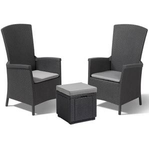 2-Sitzer Lounge-Set Salena aus Polyrattan mit Polster