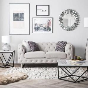 2-Sitzer Sofa Polsterbezug beige VISSLAND