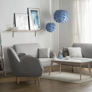 2-Sitzer Sofa Polsterbezug hellgrau KOUKI