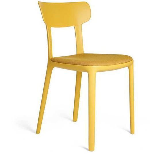 2 Stühle in Gelb Kunststoff (2er Set)