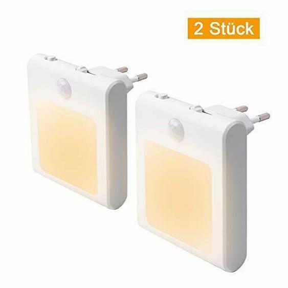 2 Stück Led Nachtlicht Steckdose Mit Bewegungsmelder, Steckdosenlicht