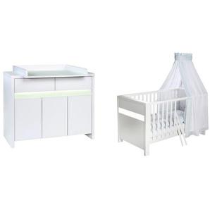 2-tlg. Babyzimmer-Set Planet White