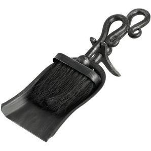 2-tlg. Kaminbesteck-Set Crook Top aus Stahl