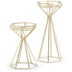 2-tlg. Kerzenhalter-Set aus Metall