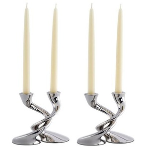 2-tlg. Kerzenhalter-Set Windrush aus Edelstahl