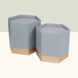 2-tlg. Kisten-Set aus Holzwerkstoff
