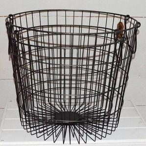 2-tlg. Korb-Set aus Metall/Draht