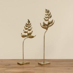 2-tlg. Skulptur-Set Baum Gibbon