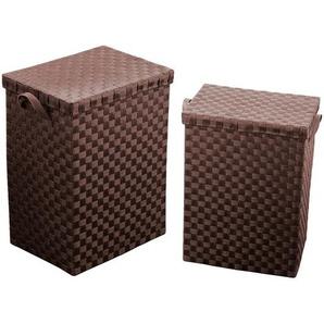 2-tlg. Wäschebehälter-Set