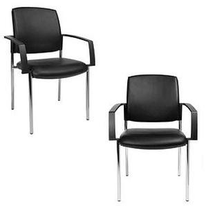2 Topstar BtoB 10 Besucherstühle schwarz Kunstleder