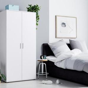 2-türiger Kleiderschrank - silber - Holz -