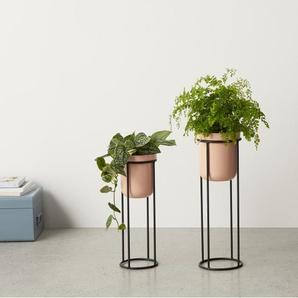 2 x Looca Blumentoepfe mit Staender, Hellrosa