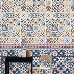 20 cm x 20 cm Mosaikfliesen Azulejo Selbstklebend Azulejo