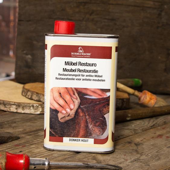 23,90 EUR/l - Restaurationsöl für dunkles Holz, antike Möbel Türen, Restauration