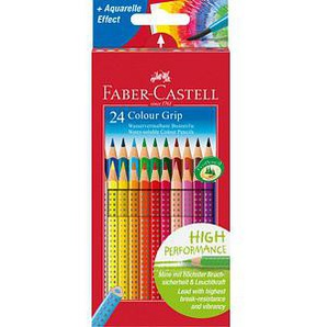 24 FABER-CASTELL Colour GRIP Buntstifte farbsortiert