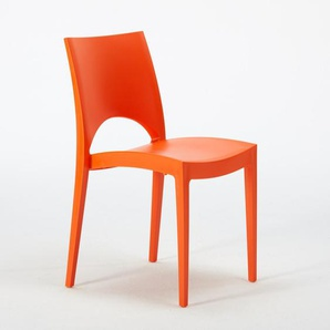 24 Stühle Küchenstuhl Esstischstuhl Esszimmerstuhl Grand Soleil PARIS | Orange
