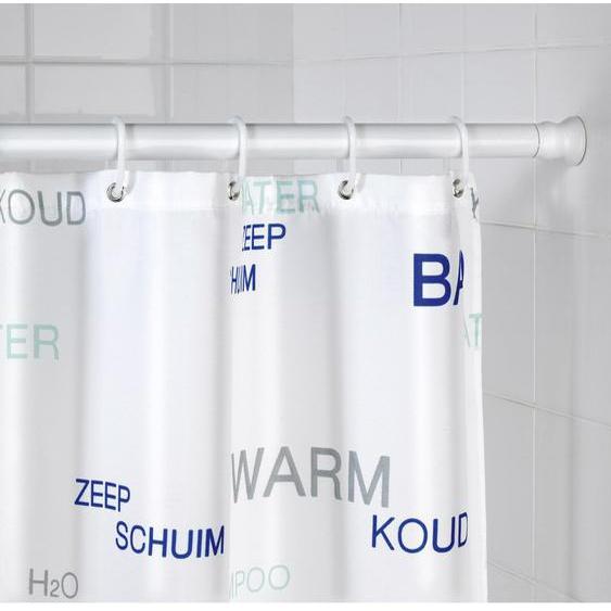 245 cm gerade und verstellbare Duschvorhangstange Abie zum Einspannen