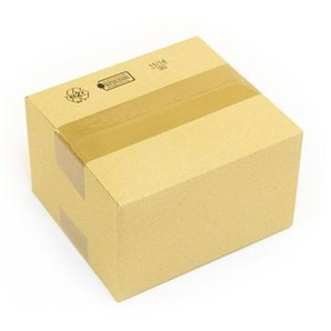 250 x Kartons 170 x 150 x 100 mm - 1 wellig braun Faltkartons - Versandkarton - KK VERPACKUNGEN