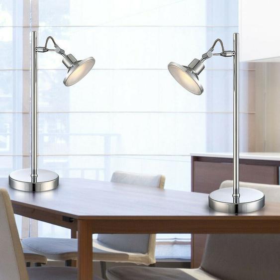 2er Set Led Steh Lampe Büro Tisch Leuchte Beleuchtung Schlaf Zimmer