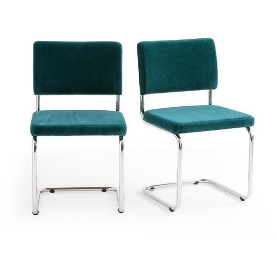 2er-set Stühle Sarva, Freischwinger, Samtbezug