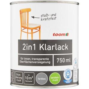 2in1 Klarlack seidenmatt farblos 750 ml