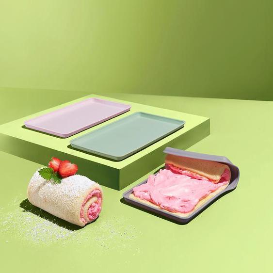 3 Dauerbackmatte für kleine Biskuitrollen - lila -