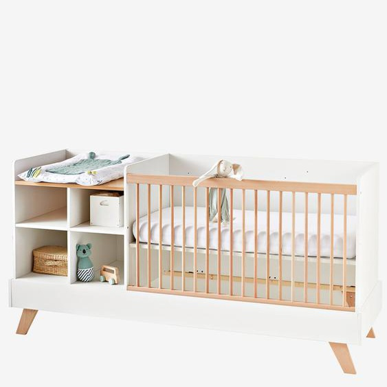 3-in-1-Kombibett ,,Evolunid für Babies und Kinder weiß/natur