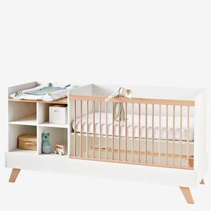 """3-in-1-Kombibett """"Evolunid"""" für Babys und Kinder weiß/natur"""