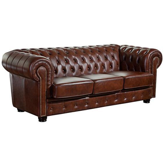 3-Sitzer Sofa Aldred aus Leder