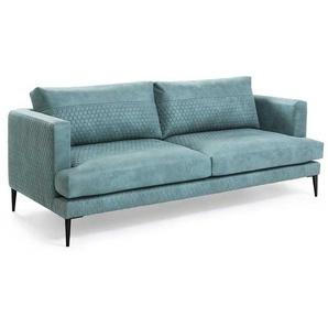 3 Sitzer Sofa in T�rkis Stoff modern