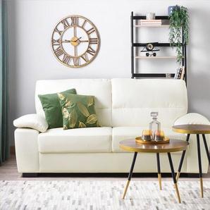 3-Sitzer Sofa Kunstleder creme VOGAR